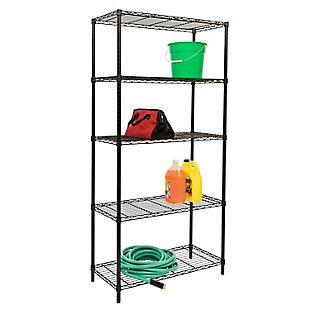 Honey-Can-Do Five Tier Adjustable Shelving Unit, , large