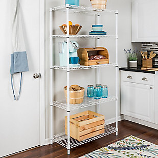 Honey-Can-Do Five Tier Adjustable Shelving Unit, , rollover