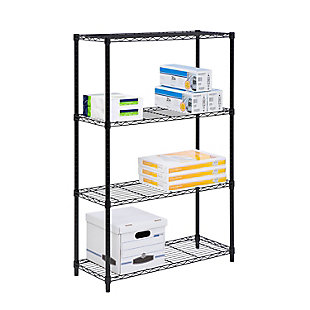 Honey-Can-Do Four Tier Adjustable Shelving Unit, , large