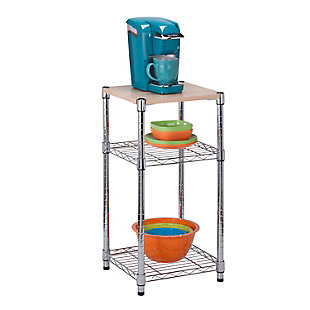 Honey-Can-Do Three Tier Adjustable Shelving Unit, , rollover