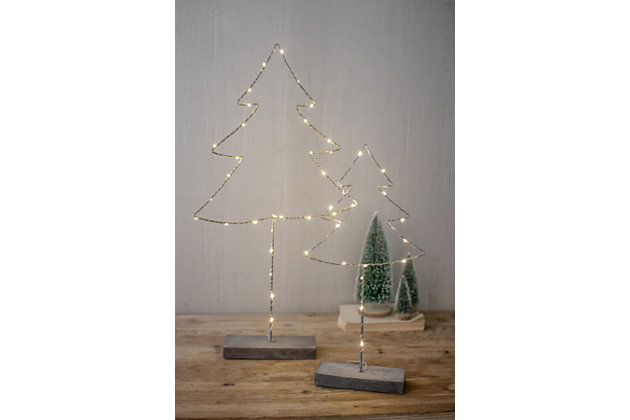 Black Home Accents Tree With LED Lights (Set of 2) by Ashley HomeStore