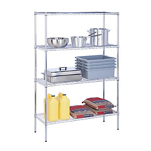 Honey-Can-Do Four Tier Adjustable Shelving Unit, Chrome, large