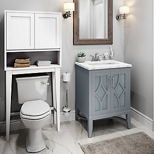 Simpli Home Draper Over The Toilet Space Saver Bath Cabinet, , rollover
