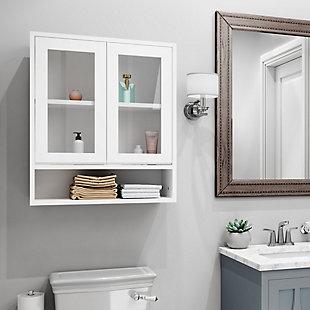 Simpli Home Draper Double Door Wall Bath Cabinet, , rollover