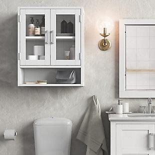Simpli Home Gatsby Double Door Wall Bath Cabinet, , rollover