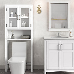 Simpli Home Gatsby Over The Toilet Space Saver Bath Cabinet, , rollover
