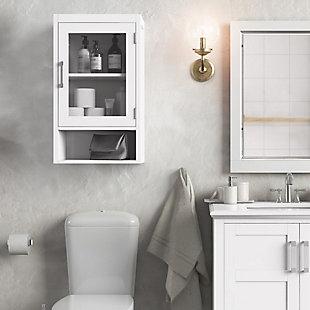 Simpli Home Gatsby Single Door Wall Bath Cabinet, , rollover