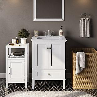 Simpli Home Gatsby Floor Storage Bath Cabinet, , rollover