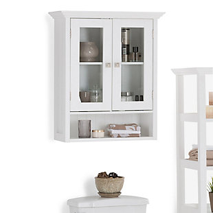 Simpli Home Acadian Double Door Wall Bath Cabinet, , rollover
