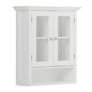 Simpli Home Acadian Double Door Wall Bath Cabinet, , large