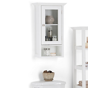 Simpli Home Acadian Single Door Wall Bath Cabinet, , rollover