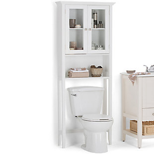 Simpli Home Acadian Over The Toilet Space Saver Bath Cabinet, , rollover