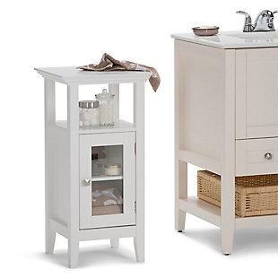 Simpli Home Acadian Floor Storage Bath Cabinet, , rollover