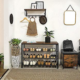 VASAGLE 4-Tier Shoe Storage Organizer, , rollover
