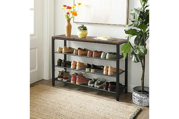 VASAGLE 4-Tier Shoe Storage Organizer, , large