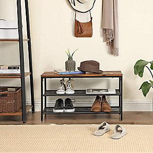 VASAGLE 3-Tier Shoe Storage Organizer, , rollover