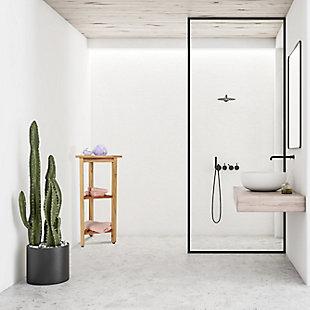 "EcoDecors FlexiCorner 32"" Tall Shower Shelf, , rollover"