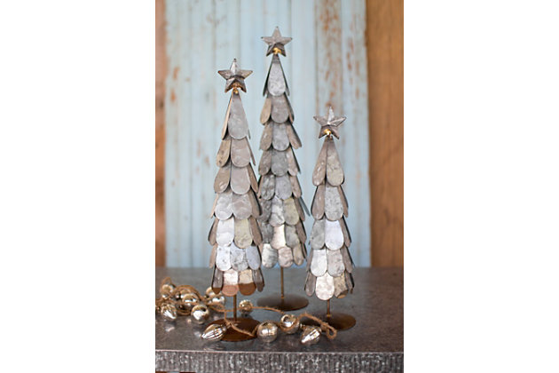 Black Home Accents Trees With Star Finial (Set of 3) by Ashley HomeStore