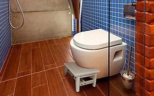 """CoastalVogue SerenityPoo 8"""" Tall Toilet Stool, , rollover"""