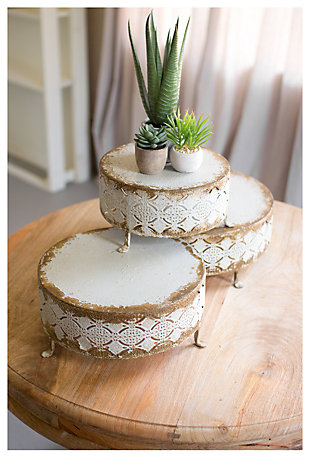 Home Accents Perforated Risers (Set of 3), , large