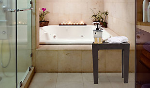"""Tatay Indestructable 15"""" Wide Shower Bench, , rollover"""