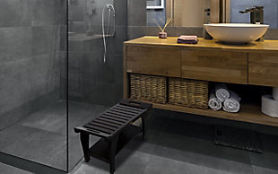 "DecoTeak Tranquility 30"" Wide Shower Bench, , rollover"