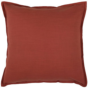 Home Accents Solid Throw Pillow, Paprika, rollover
