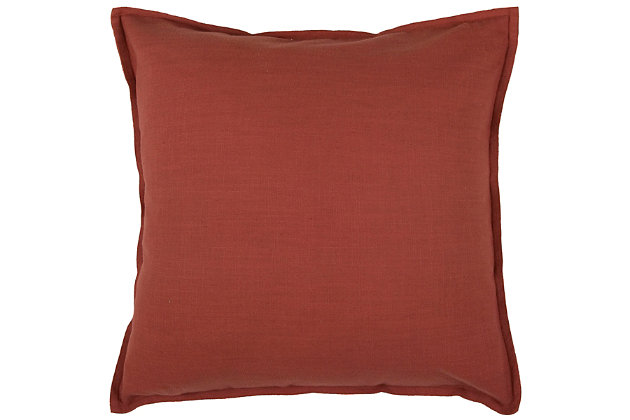 Home Accents Solid Throw Pillow, Paprika, large