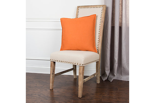 Home Accents Solid Throw Pillow, Orange, large