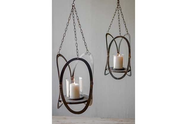 Black Home Accents Hanging Candle Holders (Set of 2) by Ashley HomeStore