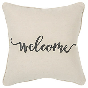 Home Accents Welcome Throw Pillow, , large