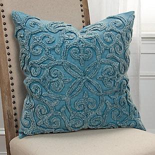Home Accents Embroidered Fluer de Lis Throw Pillow, , rollover