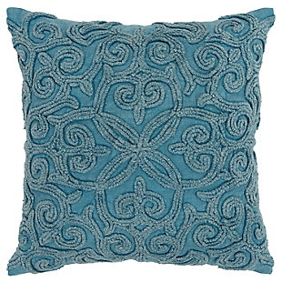 Home Accents Embroidered Fluer de Lis Throw Pillow, , large