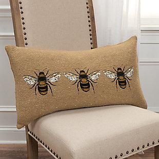 Home Accents Three Bees Throw Pillow, , rollover
