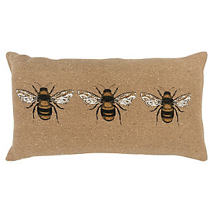 Home Accents Three Bees Throw Pillow, , large
