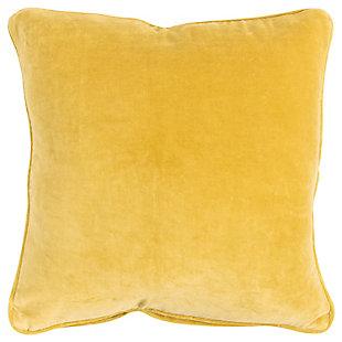 Connie Post Velvet Throw Pillow, Yellow, large