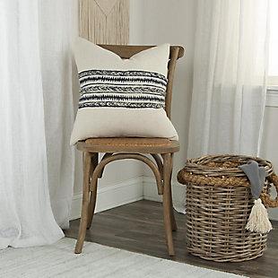 Donny Osmond Braided Stripe Throw Pillow, , rollover