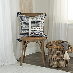 Donny Osmond Distressed Embroidered Stripe Throw Pillow, , rollover