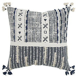 Donny Osmond Distressed Embroidered Stripe Throw Pillow, , large