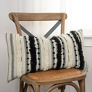 Home Accents Textural Stripe Throw Pillow, , large