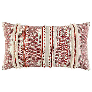 Home Accents Hand Loomed Textural Stripe Throw Pillow, , large