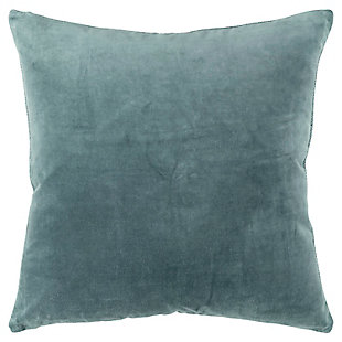 Home Accents Velvet Throw Pillow, Blue, large