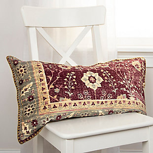 Home Accents Antique Rug Patterned Throw Pillow, , rollover