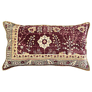 Home Accents Antique Rug Patterned Throw Pillow, , large