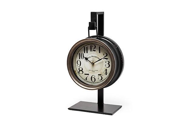 Metallic Hanging Table Clock, , large