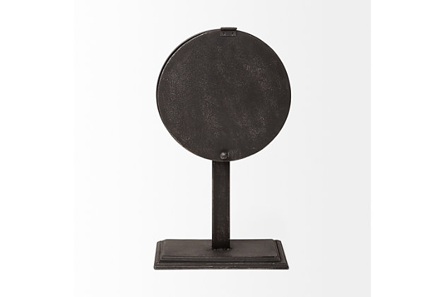 Black Round Face Table Clock, , large