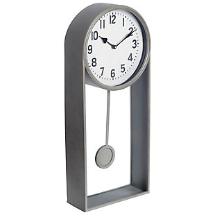 Silver Table Clock, , large