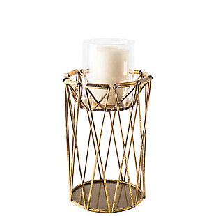 Short Metal Table Candle Holder, , large