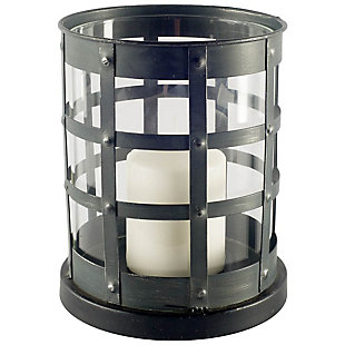 Black Caged Table Candle Holder, , large