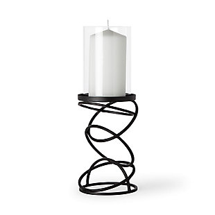 Small Metal Stacked Ring Table Candle Holder, , large
